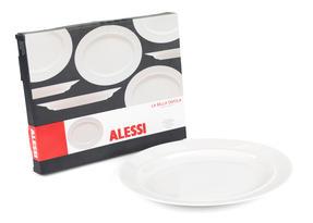 Alessi COMBO-3909 La Bella Tavola Large Porcelain Serving or Antipasti Platter, 36 cm, Off-White, Set of 10   Dishwasher Safe   For Domestic & Commercial Use Thumbnail 2