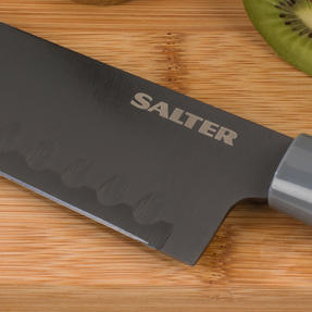 Salter Stainless Steel 3 Piece Knife Set with Santoku, Paring and Utility Knives Thumbnail 10