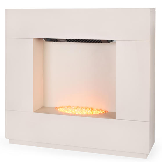Beldray Sorrento Electric Fire Suite, 1000/2000W, Cream Thumbnail 1