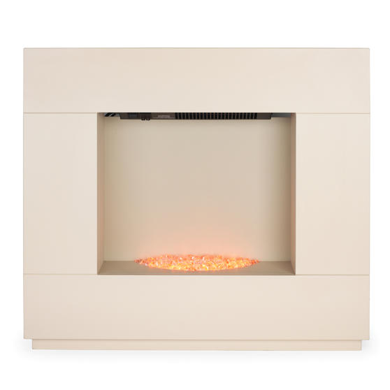 Beldray Sorrento Electric Fire Suite, 1000/2000W, Cream Thumbnail 2