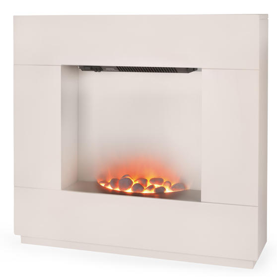 Beldray Sorrento Electric Fire Suite, 1000/2000W, Cream Thumbnail 3