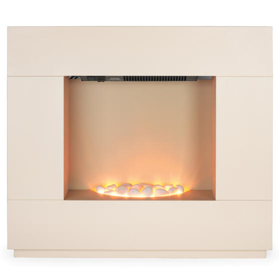 Beldray Sorrento Electric Fire Suite, 1000/2000W, Cream Thumbnail 4