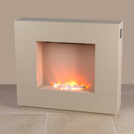Beldray Sorrento Electric Fire Suite, 1000/2000W, Cream Thumbnail 6