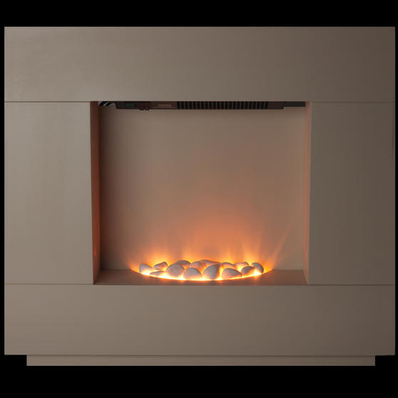 Beldray Sorrento Electric Fire Suite, 1000/2000W, Cream Thumbnail 7