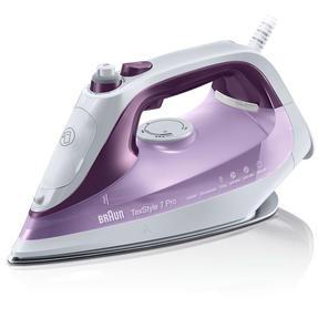 Braun SI7066VI Texstyle 7 Pro Steam Iron, 300 ml, 2600 W Purple/White Thumbnail 1