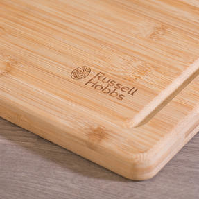 Russell Hobbs COMBO-3517 Vitreous Enamel Self-Basting Roaster and Baking Pan with Bamboo Carving Board Thumbnail 2