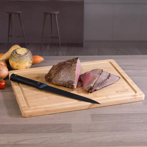Russell Hobbs COMBO-3517 Vitreous Enamel Self-Basting Roaster and Baking Pan with Bamboo Carving Board Thumbnail 5