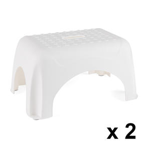 Beldray COMBO-3910 Heavy Duty DIY Step Stool, Maximum Capacity 150 KG, Set of 2, White Thumbnail 1