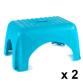 Beldray COMBO-3911 Heavy Duty DIY Step Stool, Maximum Capacity 150 KG, Set of 2, Turquoise