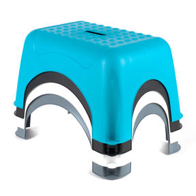 Beldray COMBO-3911 Heavy Duty DIY Step Stool, Maximum Capacity 150 KG, Set of 2, Turquoise Thumbnail 2