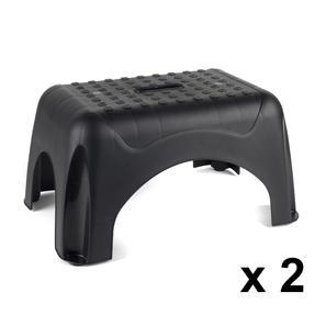 Beldray COMBO-3913 Heavy Duty DIY Step Stool, Maximum Capacity 150 KG, Set of 2, Black