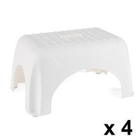Beldray COMBO-3914 Heavy Duty DIY Step Stool, Maximum Capacity 150 KG, Set of 4, White Thumbnail 1