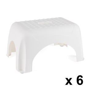 Beldray COMBO-3918 Heavy Duty DIY Step Stool, Maximum Capacity 150 KG, Set of 6, White