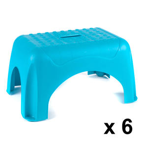 Beldray COMBO-3919 Heavy Duty DIY Step Stool, Maximum Capacity 150 KG, Set of 6, Turquoise