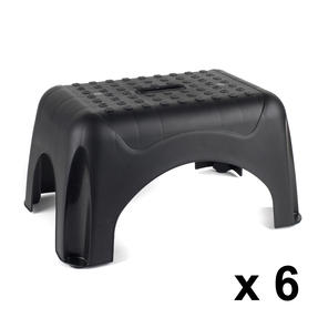Beldray COMBO-3921 Heavy Duty DIY Step Stool, Maximum Capacity 150 KG, Set of 6, Black