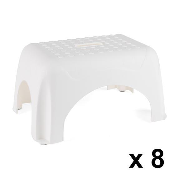 Beldray COMBO-3922 Heavy Duty DIY Step Stool, Maximum Capacity 150 KG, Set of 8, White