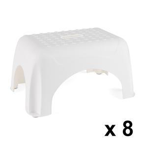 Beldray COMBO-3922 Heavy Duty DIY Step Stool, Maximum Capacity 150 KG, Set of 8, White Thumbnail 1