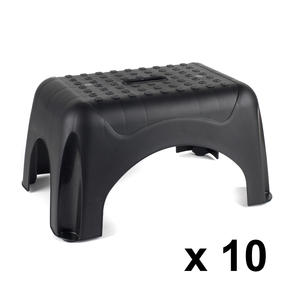 Beldray COMBO-3929 Heavy Duty DIY Step Stool, Maximum Capacity 150 KG, Set of 10, Black