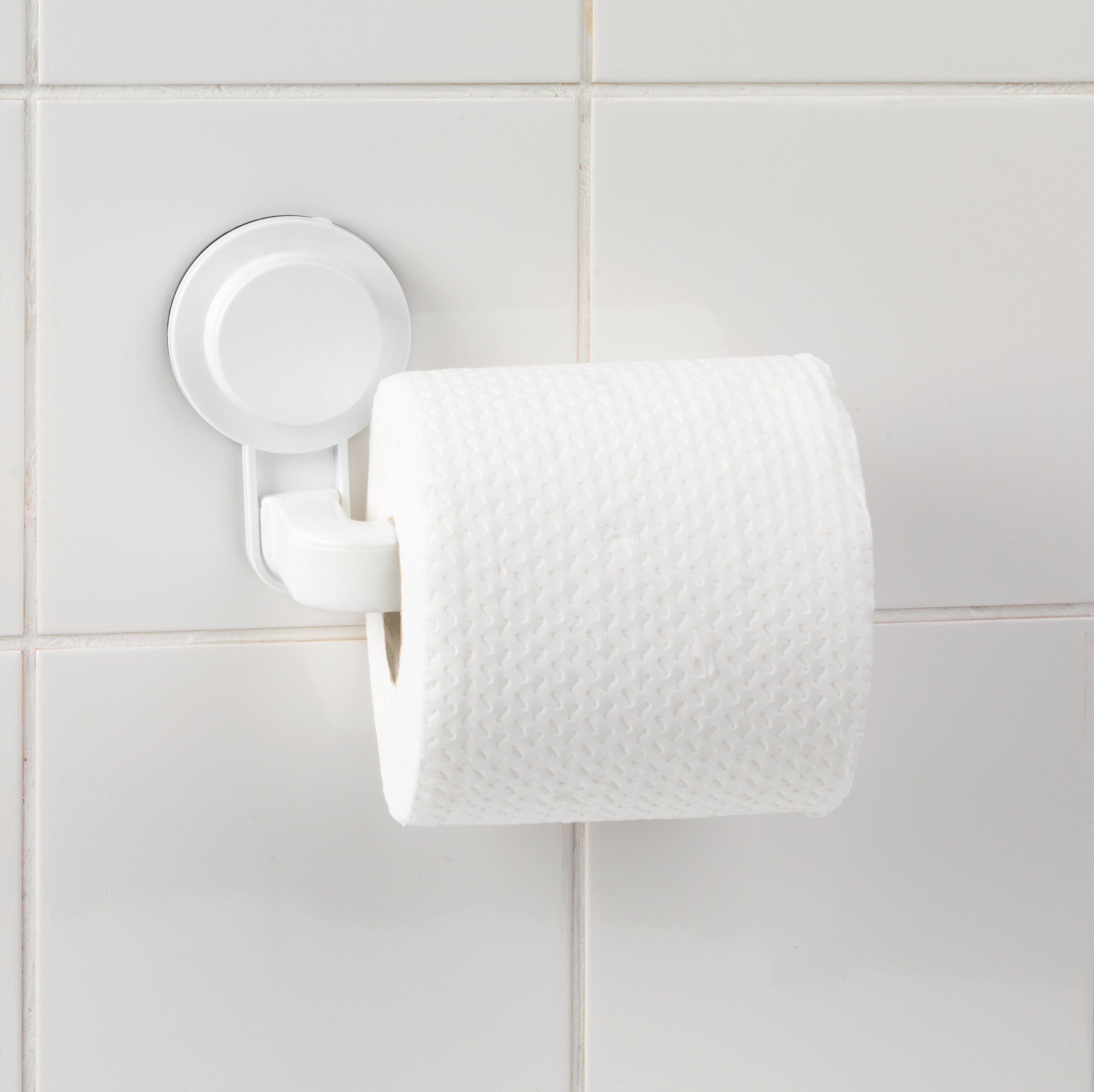 Beldray Suction Toilet Roll Holder Abs Plastic White