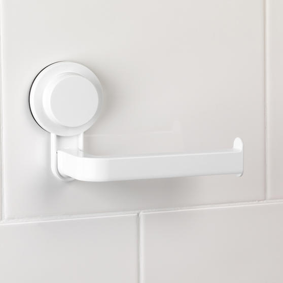 Beldray Suction Toilet Roll Holder, ABS Plastic, White Thumbnail 3