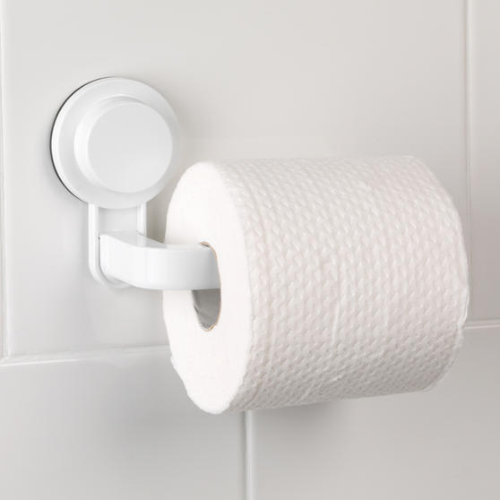Beldray Suction Toilet Roll Holder, ABS Plastic, White Thumbnail 4