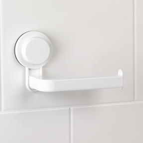 Beldray LA050755EU Suction Toilet Roll Holder, ABS Plastic, White Thumbnail 3