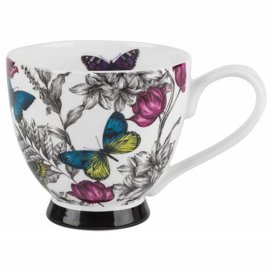 Portobello Butterfly Flora Bone China Footed Mug