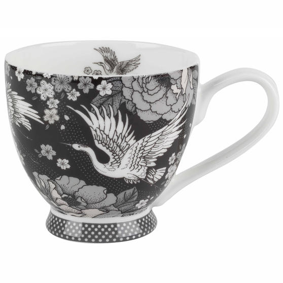 Portobello Crane Blossom Bone China Footed Mug
