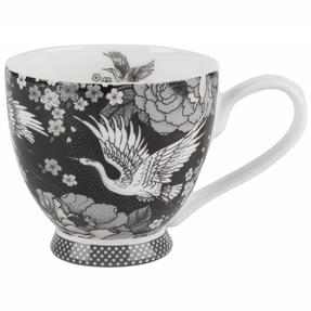 Portobello CM06360 Crane Blossom Bone China Footed Mug