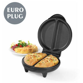 Progress EK2716P-VDE Dual Omelette Maker with European Plug, 17.5 cm, 750 W