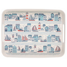 Cambridge CM06403 Plymouth Large Reusable Tray With Side Handles, 40 cm | Perfect for Serving Drinks at Parties Thumbnail 1