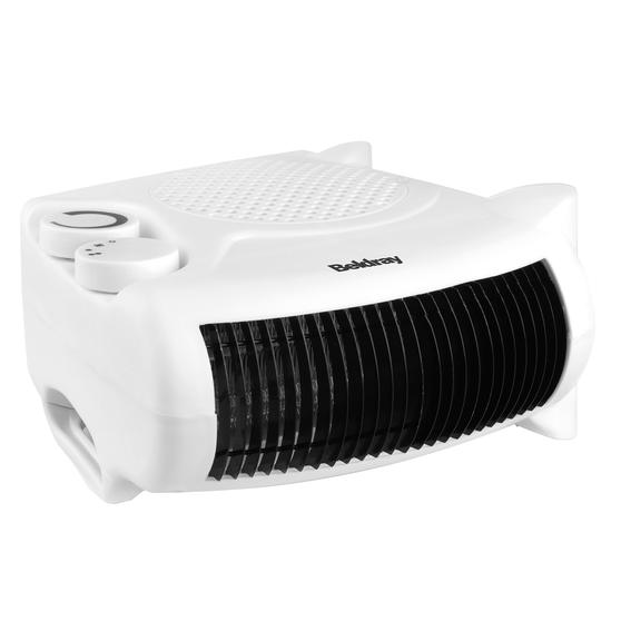 Beldray Flat Fan Portable Heater, 1000-2000W
