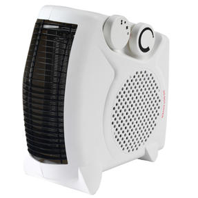 Beldray® EH3027STK Upright/Flatbed Portable Fan Heater with Cool Air Function   2 Heat Settings   1000/2000 W   Adjustable Thermostat   Safety Cut Out   White Thumbnail 3