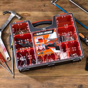Black + Decker COMBO-3940 Set of 2 Eight Compartment Pro Organisers, 7.2 L, 42.2 cm x 33.5 cm x 10.6 cm Thumbnail 4