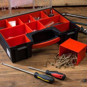 Black + Decker COMBO-3940 Set of 2 Eight Compartment Pro Organisers, 7.2 L, 42.2 cm x 33.5 cm x 10.6 cm Thumbnail 5