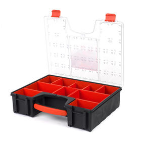 Black + Decker COMBO-3941 Set of 3 Eight Compartment Pro Organisers, 7.2 L, 42.2 cm x 33.5 cm x 10.6 cm Thumbnail 2