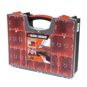 Black + Decker COMBO-3943 Set of 5 Eight Compartment Pro Organisers, 7.2 L, 42.2 cm x 33.5 cm x 10.6 cm Thumbnail 6