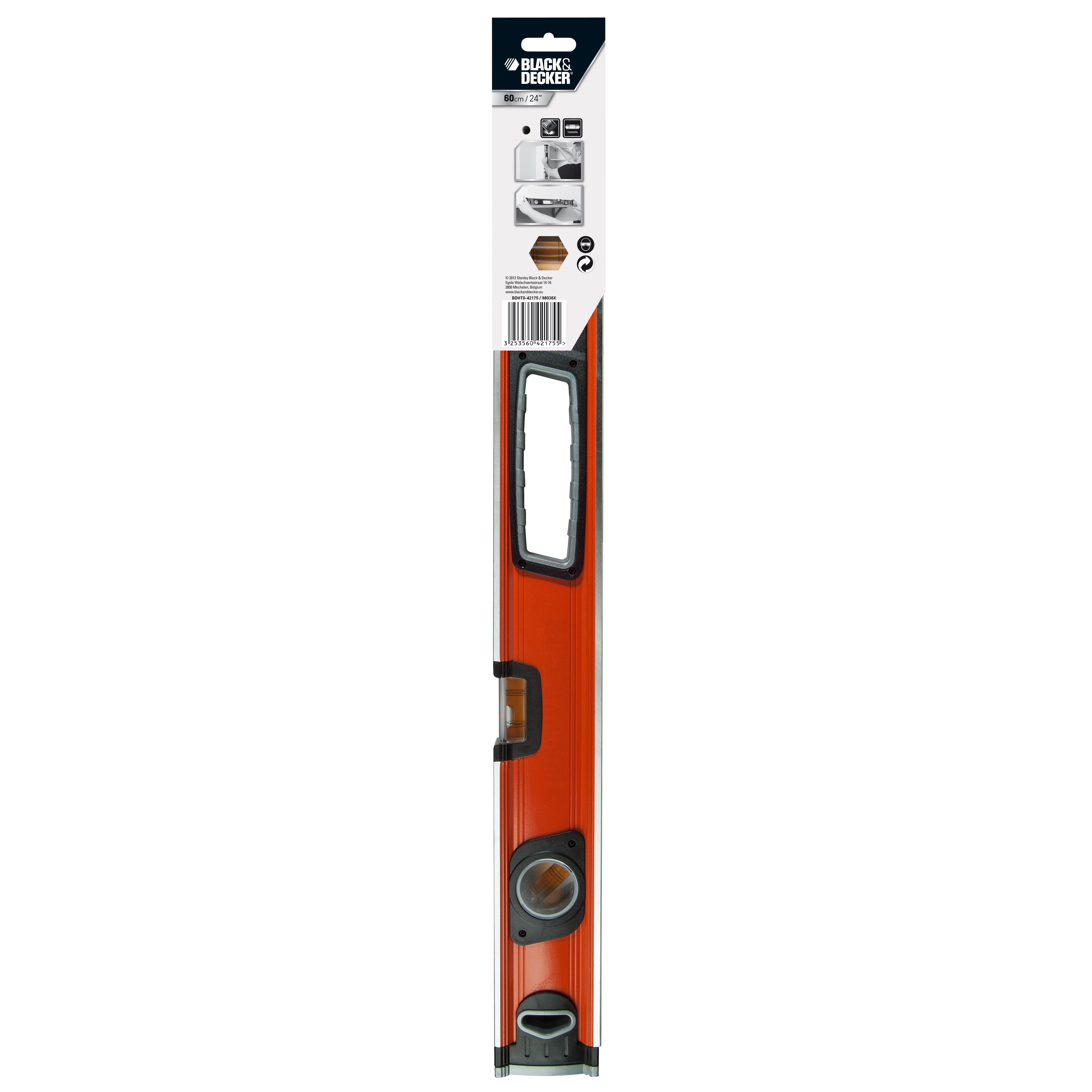 Black + Decker COMBO-3945 Box Level, 60 cm, 24 Inches, Set of 2 Thumbnail 9