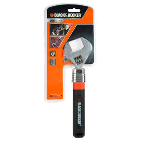 Black + Decker COMBO-3950 250-350 mm Adjustable Wrench with Soft Grip Claw Hammer Thumbnail 2