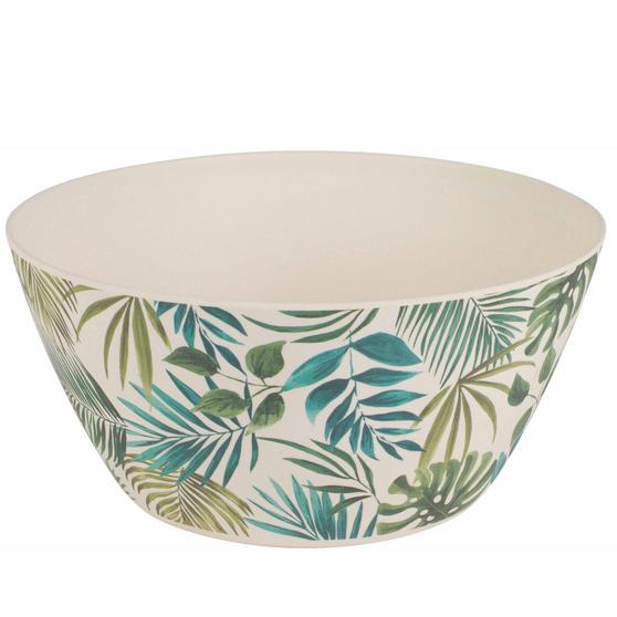 Cambridge CM06076 Large Reusable Serving Bowl, 25 cm, Polynesia Print | Dishwasher Safe | BPA Free | Alternative to Single Use Plastics