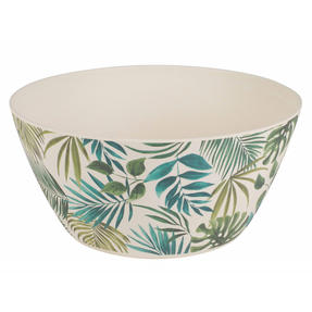 Cambridge CM06077 Reusable Dinnerware Bowls, 14 cm, Set of 4, Polynesia Print | Dishwasher Safe | BPA Free | Alternative to Single Use Plastics