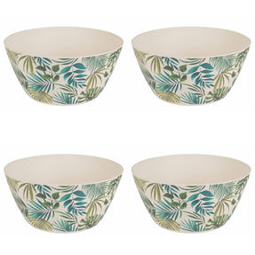 Cambridge CM06077 Reusable Dinnerware Bowls, 14 cm, Set of 4, Polynesia Print | Dishwasher Safe | BPA Free | Alternative to Single Use Plastics Thumbnail 3