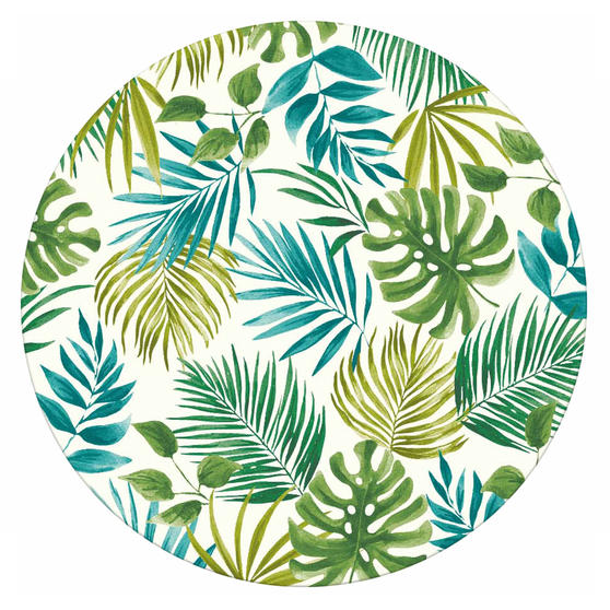 Cambridge CM06204 Reusable Lightweight Dinner Plates, 25 cm, Polynesia Print, Set of 4 | Dishwasher Safe | BPA Free | Alternative to Single Use Plastics