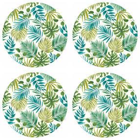 Cambridge CM06204 Reusable Lightweight Dinner Plates, 25 cm, Polynesia Print, Set of 4 | Dishwasher Safe | BPA Free | Alternative to Single Use Plastics Thumbnail 3