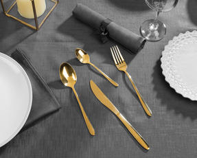 Salter COMBO-3092 32-Piece Gold Cutlery Set, Stainless Steel Thumbnail 3