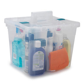 Beldray COMBO-3832 Large DIY, Hobby, Cleaning Caddies with Lid, Set of 3, Clear Thumbnail 5