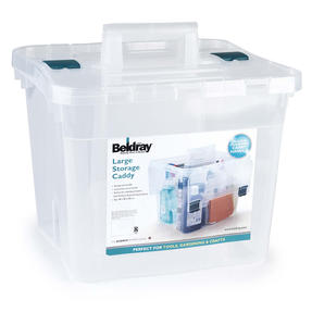 Beldray COMBO-3832 Large DIY, Hobby, Cleaning Caddies with Lid, Set of 3, Clear Thumbnail 6