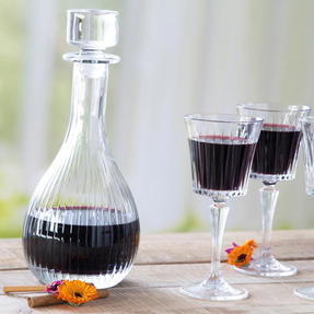 RCR COMBO-3665 Timeless Luxion Crystal Round Wine Decanter and Square Whiskey Decanter Set Thumbnail 3