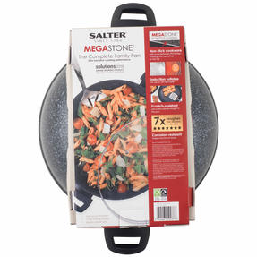Salter BW07642S Megastone Collection Non-Stick Forged Aluminium Family Frying Pan, 30 cm, Silver Thumbnail 3