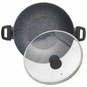 Salter Megastone Collection Non-Stick Forged Aluminium Family Frying Pan - Single Thumbnail 2